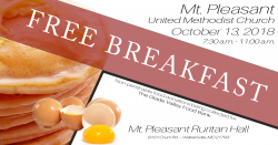 October 13, 2018 Free Breakfast